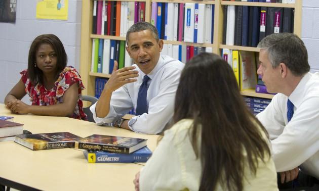 US President Barack Obama, alongside Sec