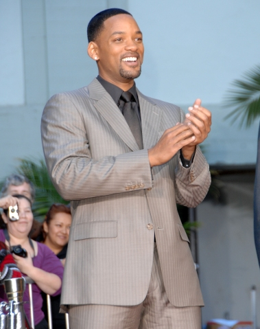 Will Smith Foot and Handprint Ceremony