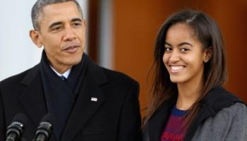 Barack and Malia Obama