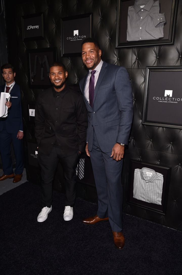 Usher and Michael Strahan