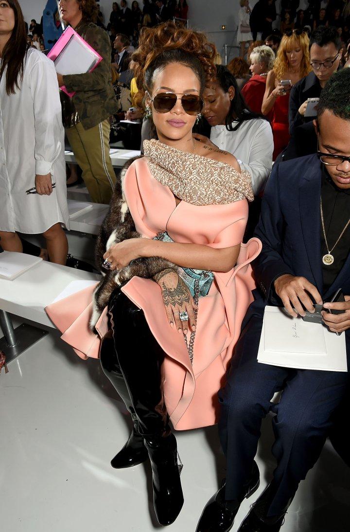 Rihanna at Dior Fashion Show