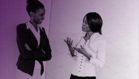 Black female coworkers