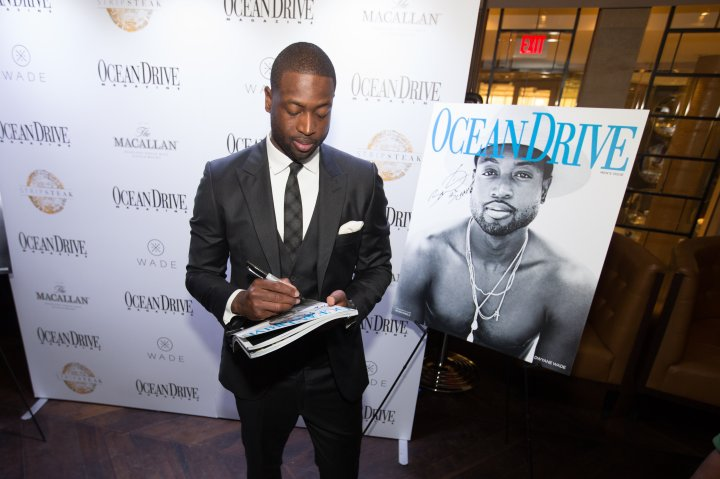 Ocean Drive Magazine Celebrates its October Men's Issue with Dwyane Wade at StripSteak by Michael Mina at Fontainebleau