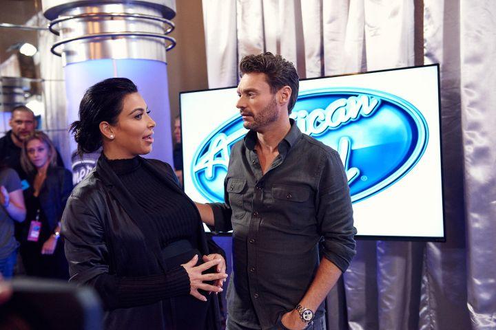 Kim Kardashian and Ryan Seacrest
