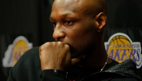 Lakers forward Lamar Odom refelcts on the season while answering questions from reporters about the