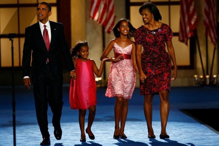 DENVER, CO – AUGUST 28, 2008– Democratic presidential nominee Barack Obama is joined on stage by his