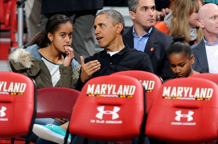 Barack Shares Dad Wisdom With Malia