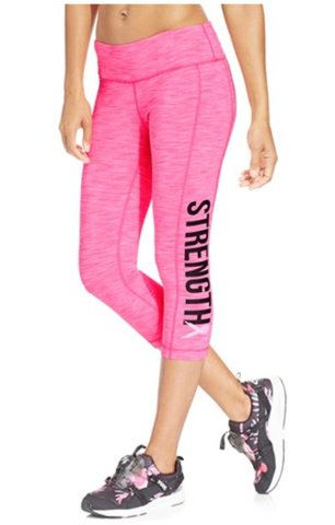 Macy's Ideology Breast Cancer Research Foundation Cropped Leggings,