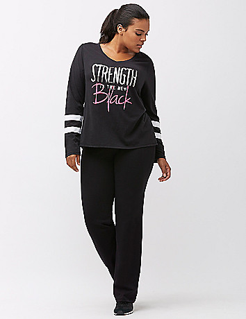 "Lane Bryant ""Strength Is The New Black"" Tee, $39.95"