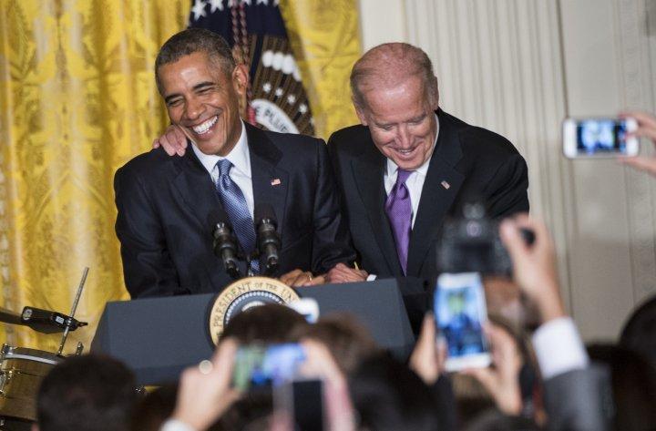 Barack Obama & Joe Biden. Well miss their bromance.