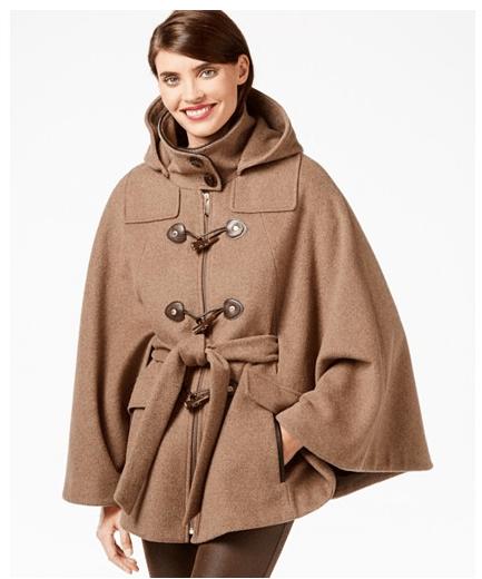 Toggle-Front Cape Coat