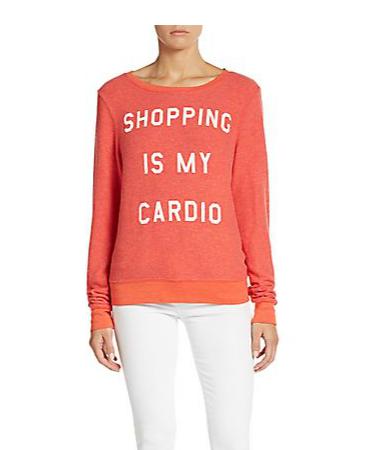 Shopping Is My Cardio Graphic Sweatshirt