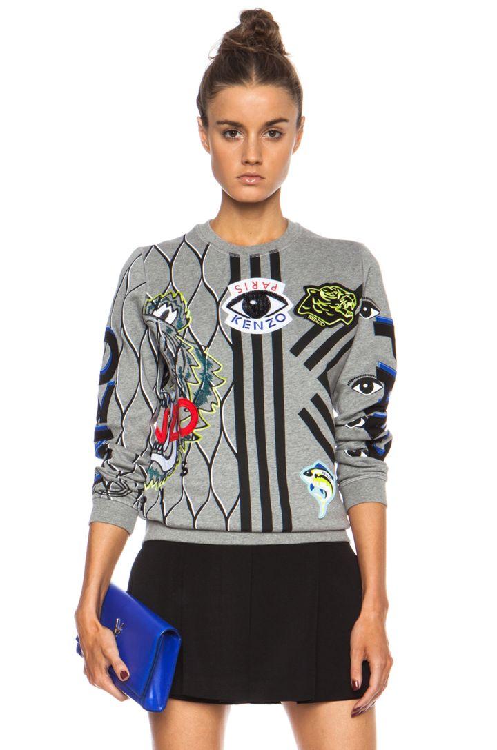 Mixed Print Graphic Sweatshirt