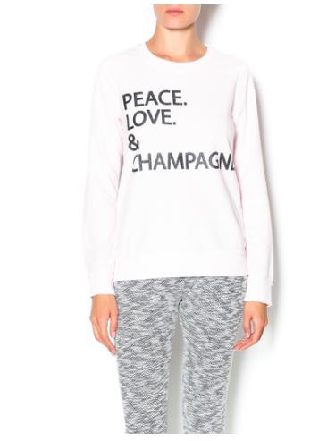 Peace, Love and Champagne Sweatshirt