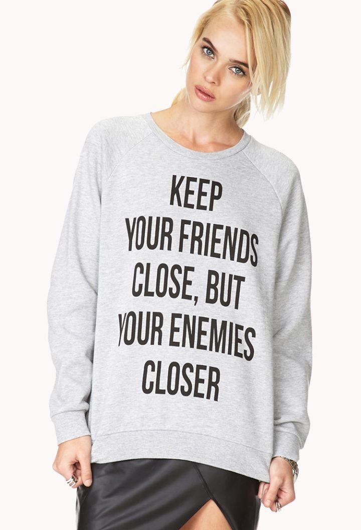 Enemies Closer Graphic Sweatshirt