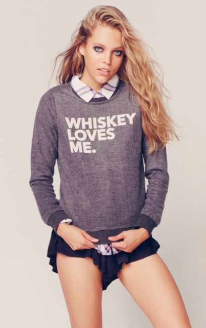 Whiskey Loves Me Sweatshirt