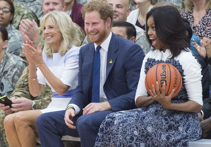 First Lady Michelle Obama and Prince Harry