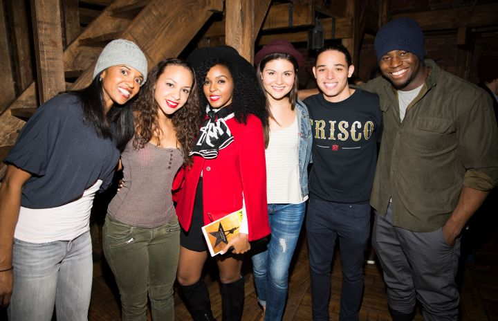 Janelle Monáe and the cast of 'Hamilton'