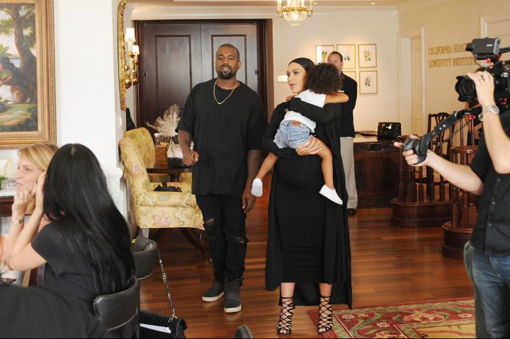Kim Kardashian, Kanye West & North West