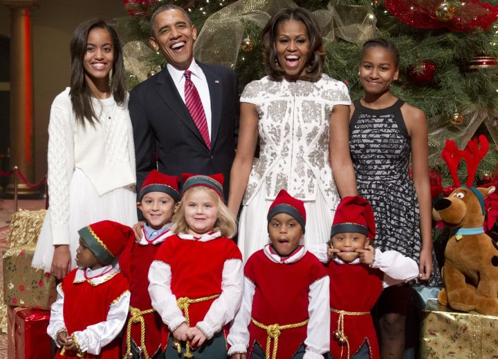 The Obamas In The Holiday Spirit