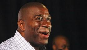 Earvin 'Magic' Johnson Hosts The NBA 2K12 Launch Event