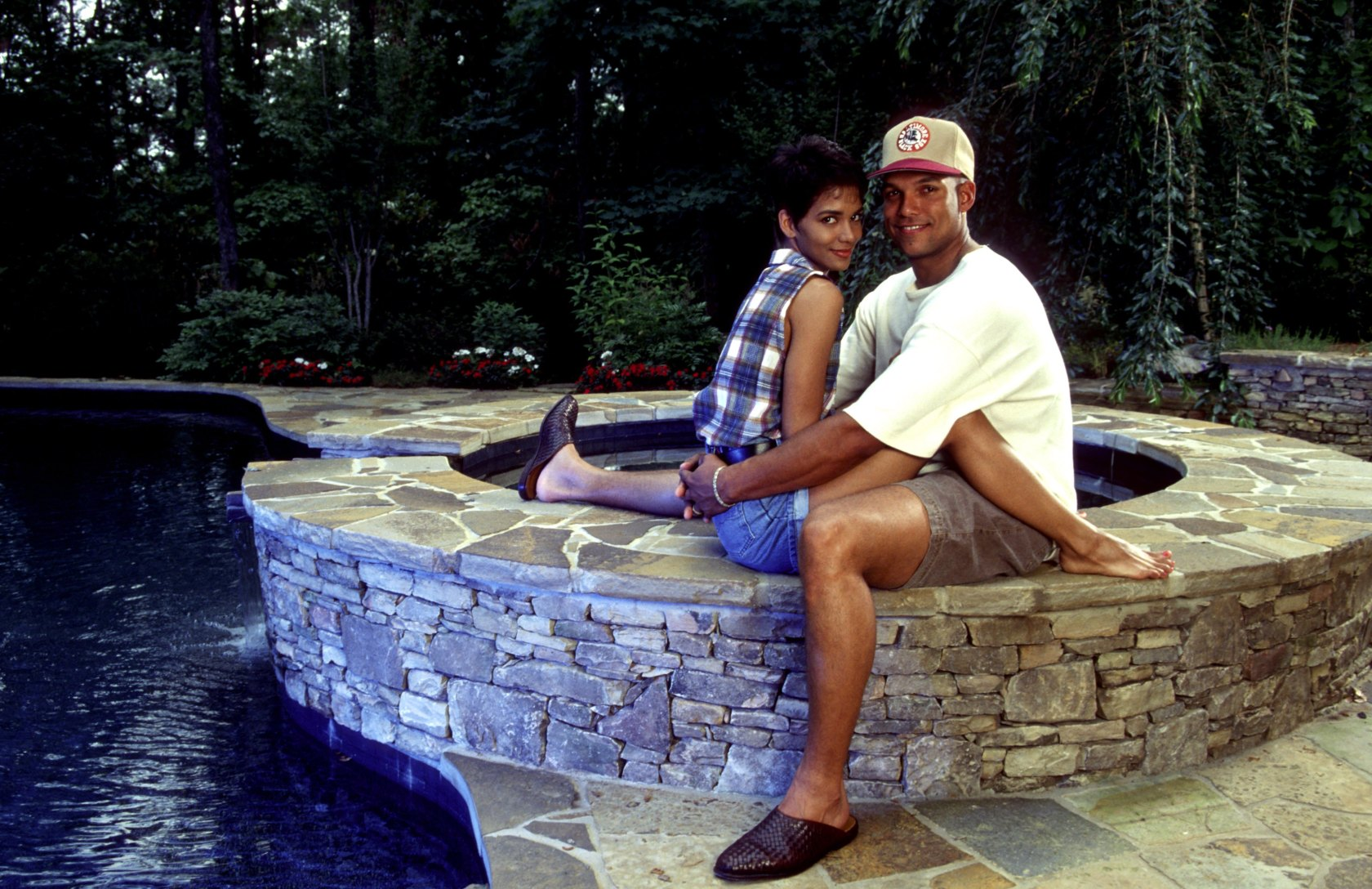 Halle Berry and David Justice