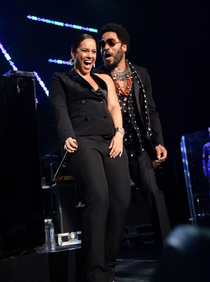 Alicia Keys & Lenny Kravitz