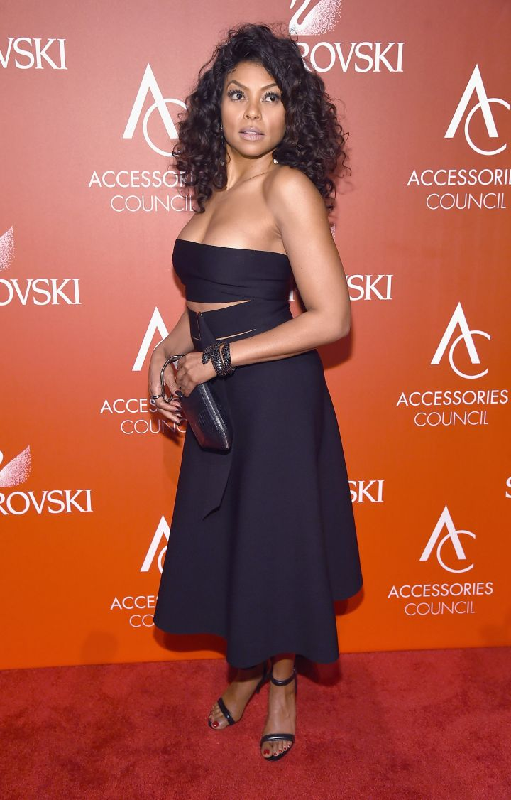 Taraji P. Henson On The Red Carpet At The 18th Annual Accessories Council ACE Awards Monday.