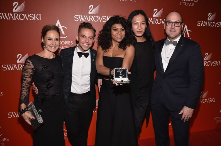 Taraji P. Henson With Council Members At The 18th Annual Accessories Council ACE Awards Monday.