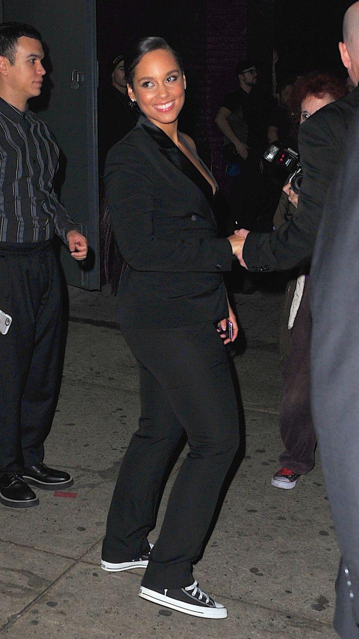 Alicia Keys Leaving The Keep A Child Alive Black Ball On Thursday