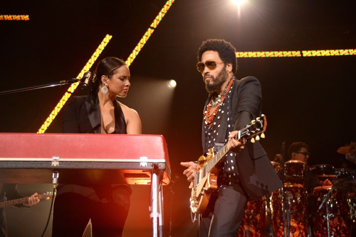 Alicia Keys & Lenny Kravitz Perform At The Black Ball Thursday.