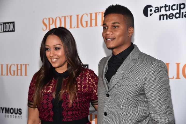 Tia Mowry-Hardrict & Cory Hardrict Attend A Screening Of Open Road Films' 'Spotlight' In L.A. Tuesday