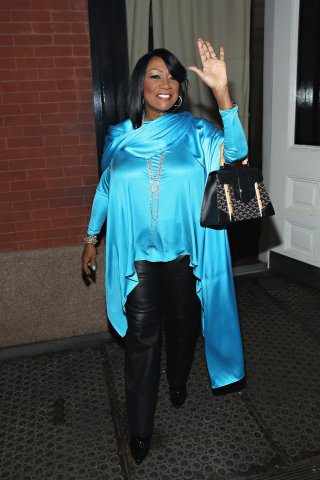 Singer Patti LaBelle Seen Leaving The Mercer Hotel Wearing Turquoise In Support Of The American Lung Association's LUNG FORCE Initiative