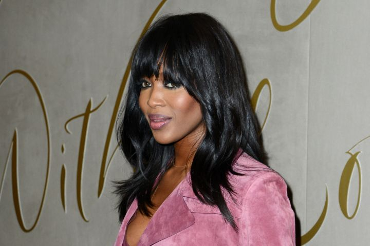 Naomi Campbell Arrives for the Premiere of the Burberry Festive Film at Burberry in London Tuesday.