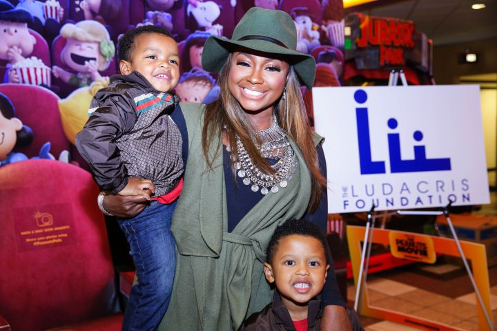 Phaedra Parks and her sons, Dylan and Ayden Attend The 'Peanuts' Movie Screening Tuesday.