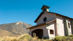The Chapel of Our Lady of the Snows in Teide National Park...