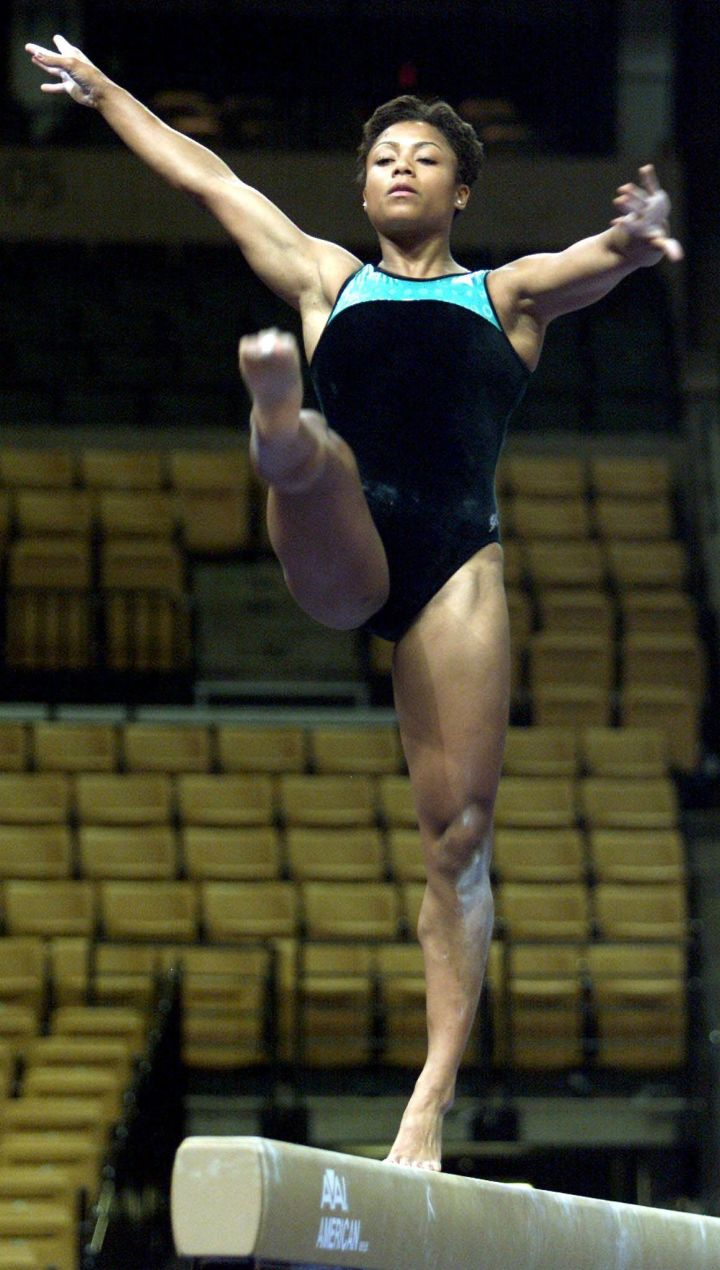 Practicing Her Balance Beam Routine At Warmup Session For The 2000 US Olympic Team Trials