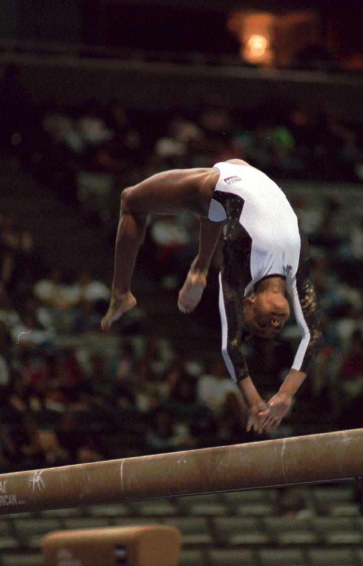 At The 1995 Budget Gymnastics Invitational