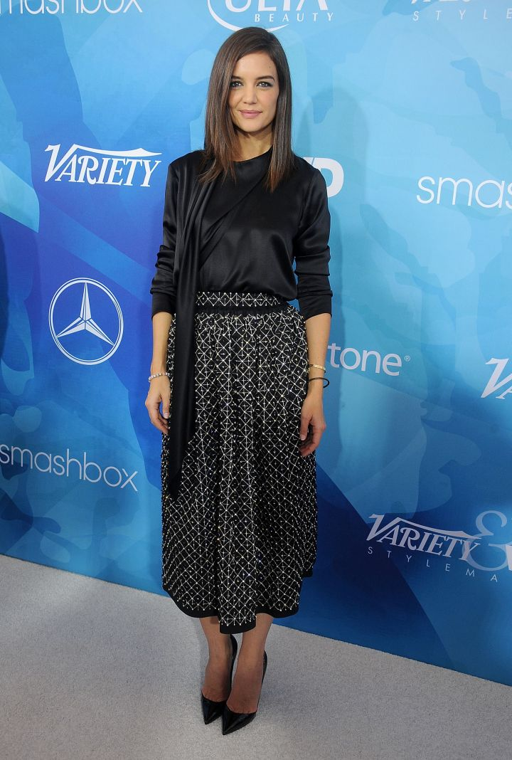 Katie Holmes attends the first annual Variety & WWD StyleMakers luncheon presented by Smashbox Cosmetics