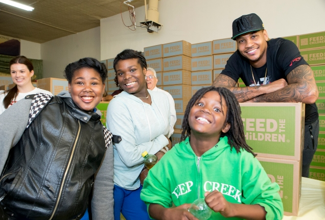 Carmelo Anthony's Foundation Feeds Those in Need