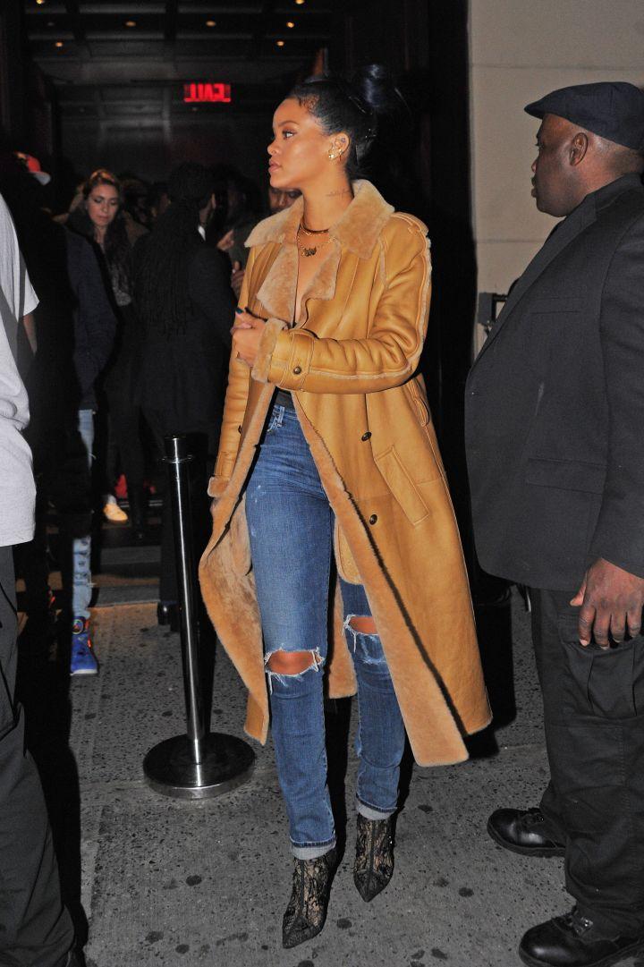 Rihanna Goes Casual