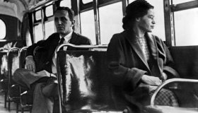 Rosa Parks On Bus
