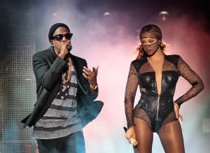 PASADENA, CA. AUG. 02, 2014. The performance of Jay Z and Beyonce on their 'On the Run' tour at the