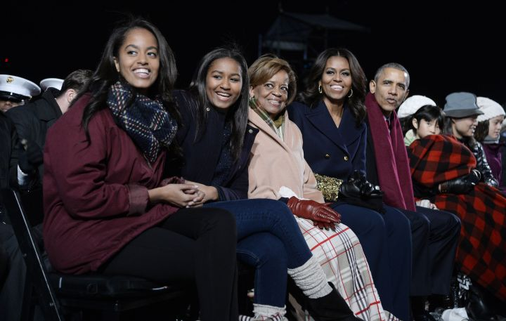 The First Family celebrates the annual Christmas tree lighting