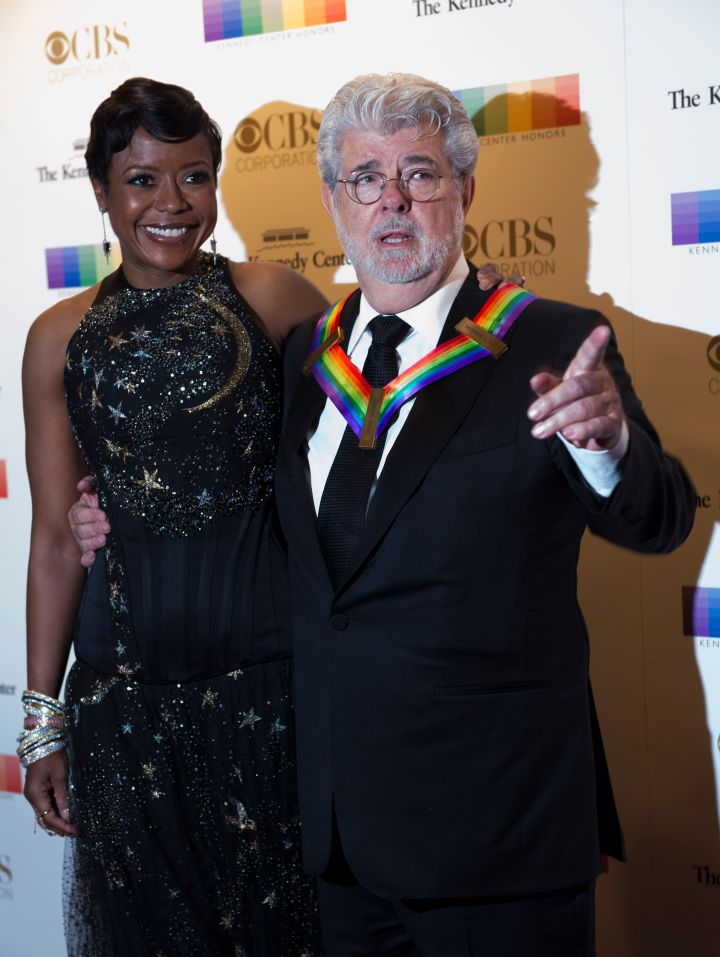 Honoree George Lucas and his wife Mellody Hobson