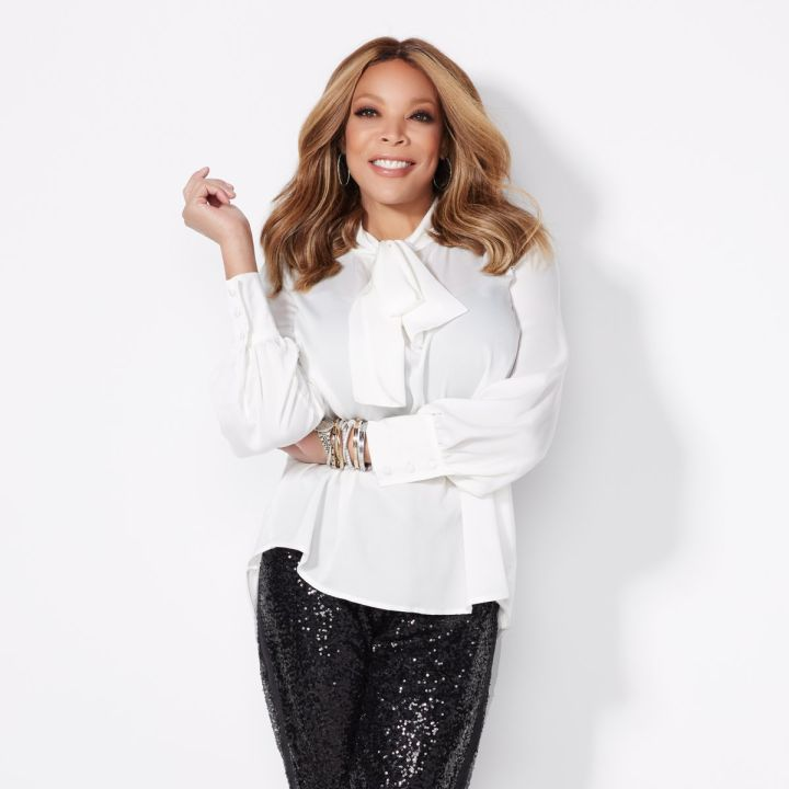 Wendy Williams Crepe Blouse with Bow- $49.90