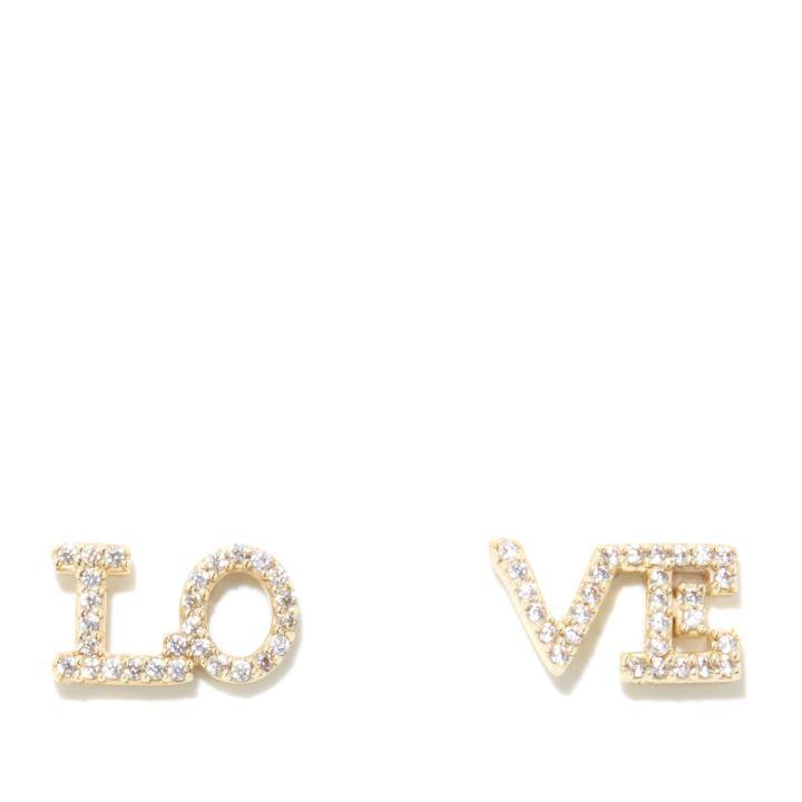 """Wendy Williams """"Love"""" Stud Earrings- $39.90"""