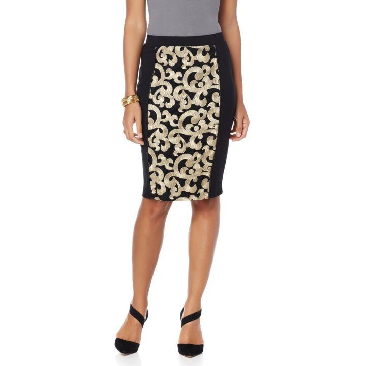 "Wendy Williams ""Leah"" Mesh Pencil Skirt- $59.90"