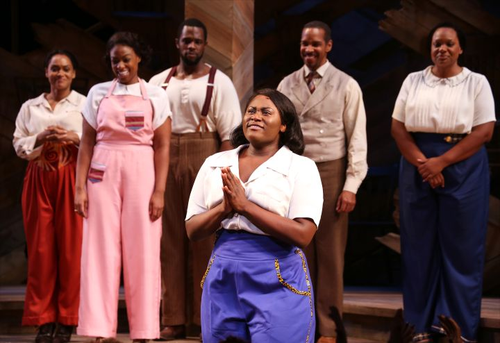 Danielle Brooks during curtain call