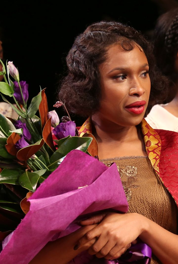 Jennifer Hudson during curtain call